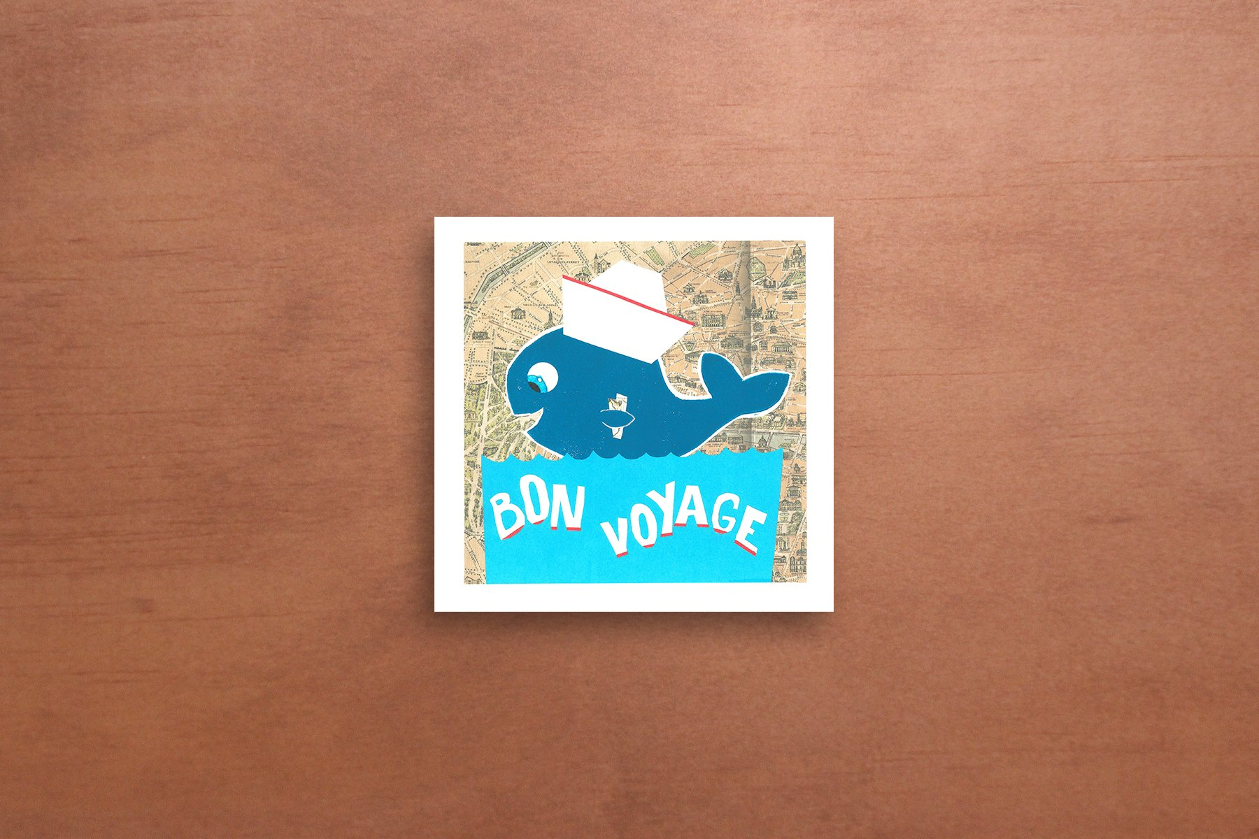 Bon voyage greeting card alvin design thanks for visiting kristyandbryce Image collections