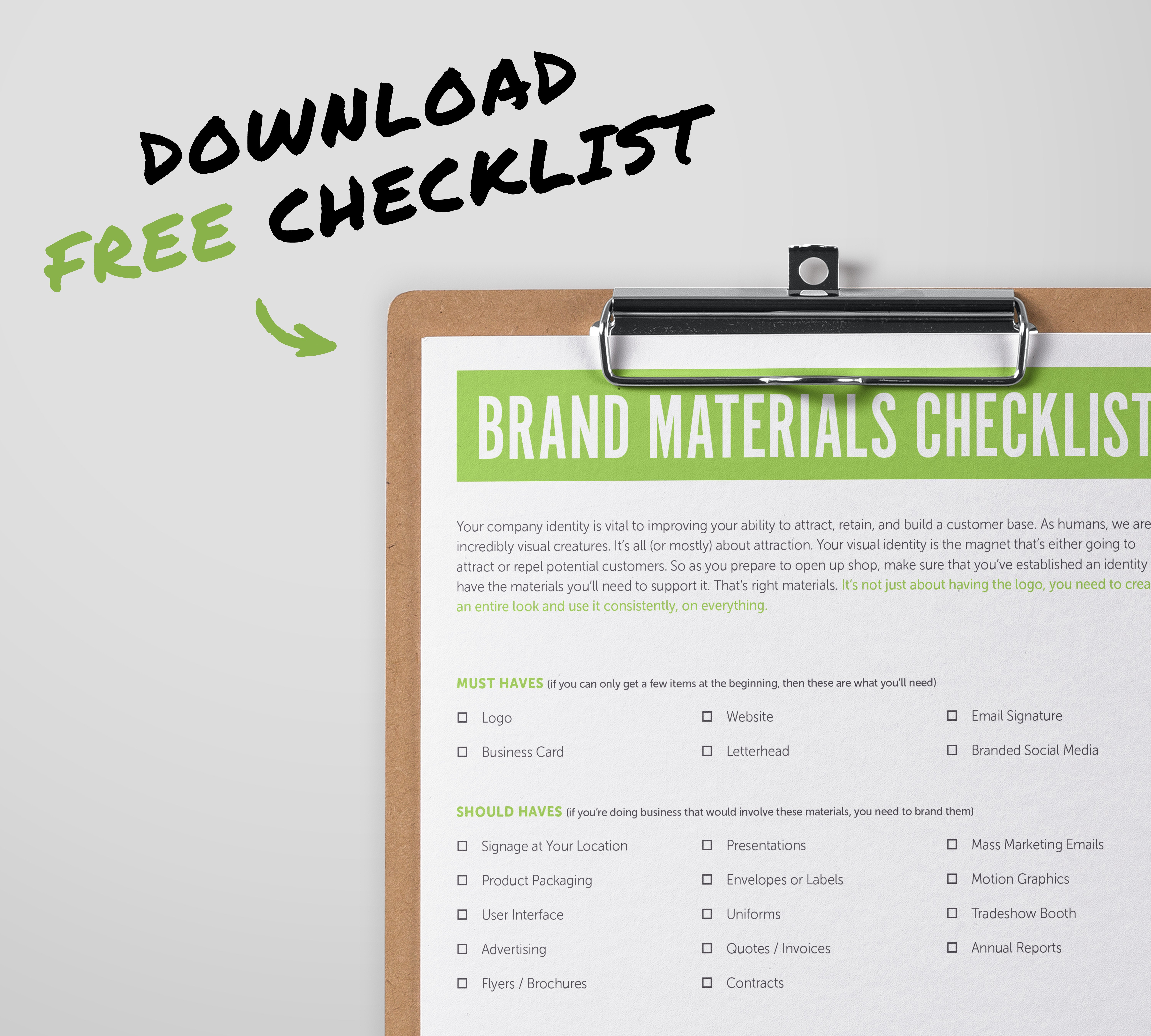 Brand Materials Checklist for New Businesses