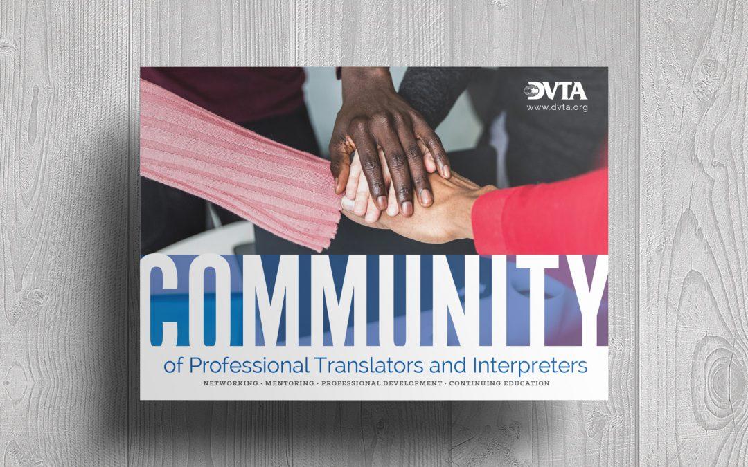 Promotional Postcard Case Study: Delaware Valley Translators Association